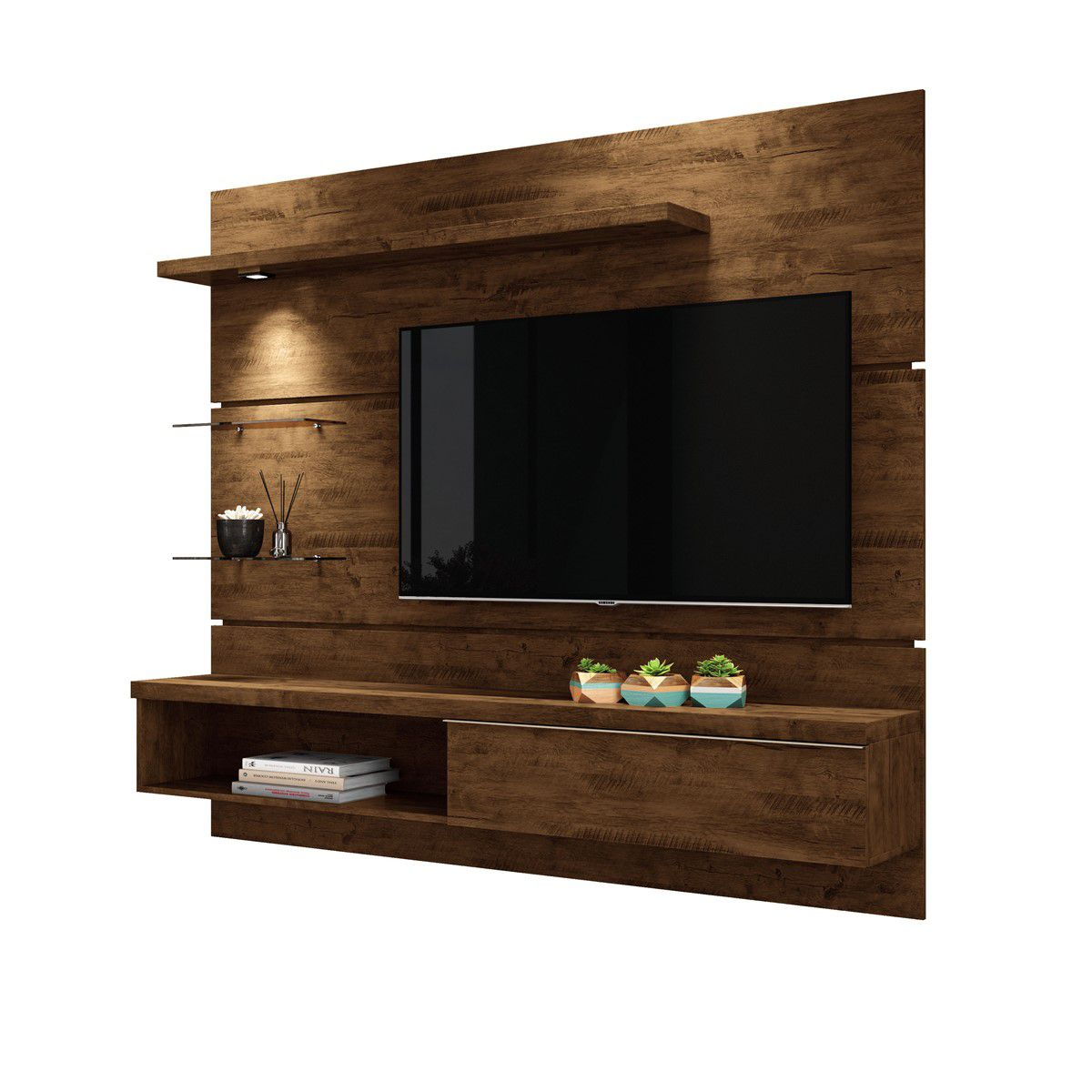 "Painel p/ TV 55"" Home Suspenso Ores 1.8 HB Móveis Canyon"