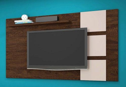 """Painel Para TV até 55"""" Grécia Noce/Off White Lukaliam móveis"""
