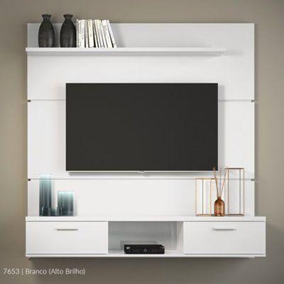 """Painel Suspenso Para TV até 55"""" Branco Flat 1.6 HB"""