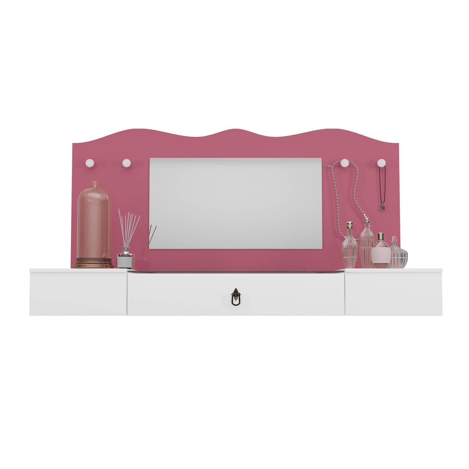 Penteaderia Suspensa Vip Colibri Branco Neve / Pink
