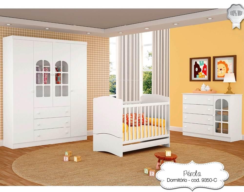 Quarto Infantil Pérola Branco Ref 9600 Peternella