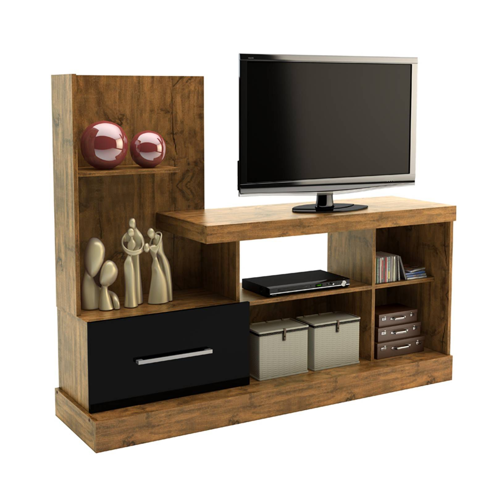 Rack p/ TV R207 Dalla Costa Nobre/Preto