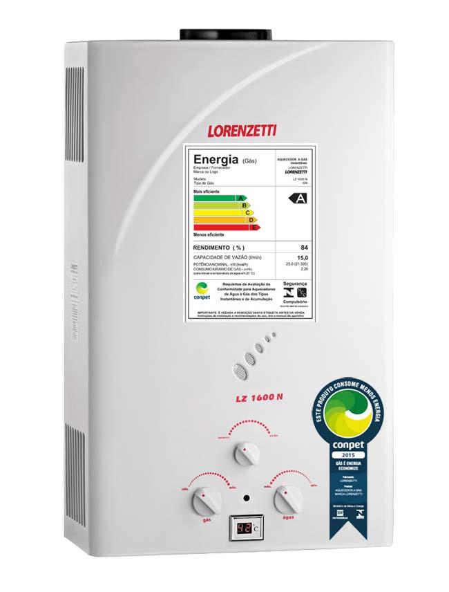 Aquecedor de Agua a Gas LZ-1600 GN - Lorenzetti