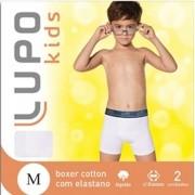 Kit Com 10 Cuecas Boxer Infantil Algodão com Elastano - Lupo - 141.088