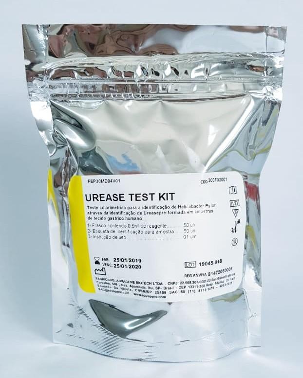 Urease Teste Kit Advagen - Detecção de Helicobacter pylori - 50 testes - Resultados a partir de 30 minutos  - Buzzy Brasil