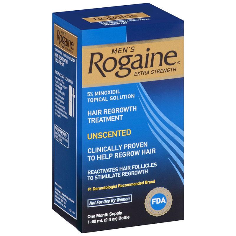 Rogaine Extra Strength - Minoxidil Solu��o 5% - Tratamento para 1 M�s