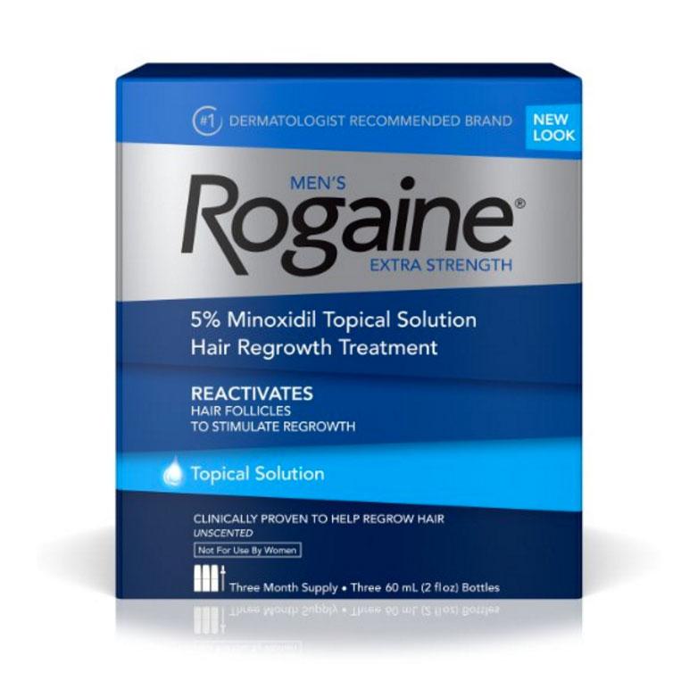 Rogaine Extra Strength - Minoxidil Solu��o 5% -  Tratamento para 3 meses