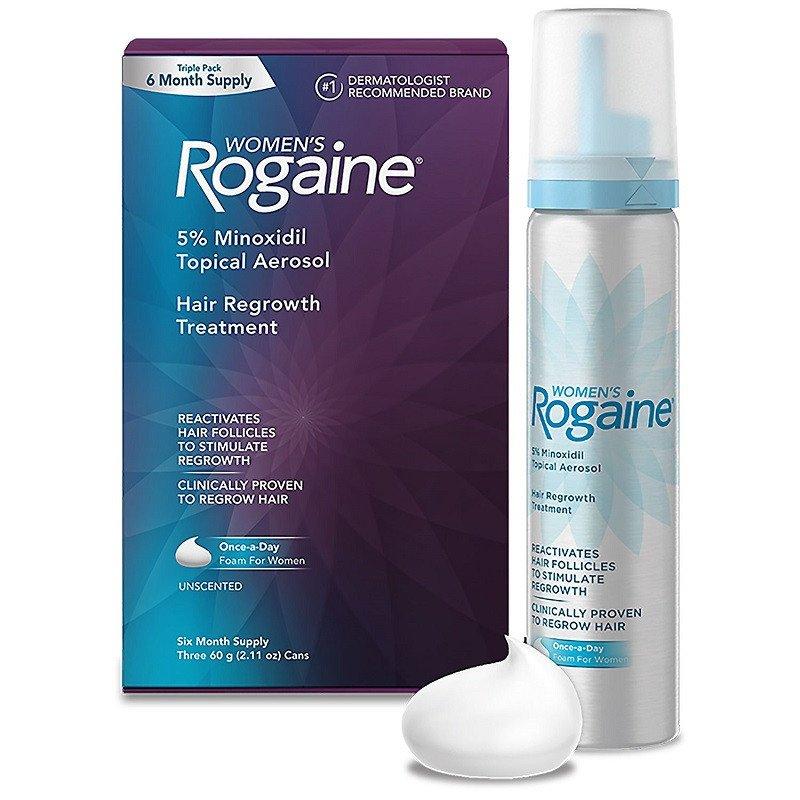 Rogaine Foam para Mulheres - Minoxidil em Espuma 5% - Tratamento para 6 meses