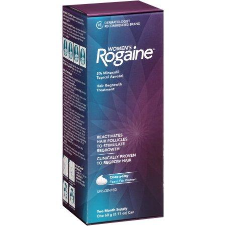 Rogaine para Mulheres - Minoxidil Espuma 5% - 1 Unidade (Tratamento para 2 Meses)