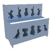 Expositor De Ração: Pet Box Kids 10 Divisões+mesa P/ Balança