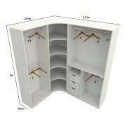 Kit Closet Loja Modulado Canto M57 100% Mdf