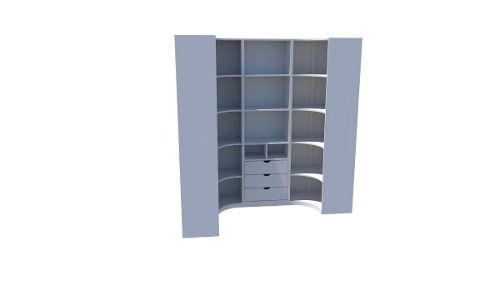 Kit Armário Closet Modulado M13 (colmeia, loja, Expositor, sapateira, roupa, organizador)