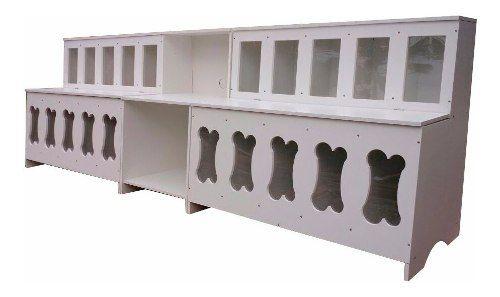 Pet Box 20 Combo Ossinhos: 2 Expositor De Ração + Mesa Para Balança
