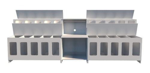 2 Expositor Para Ração + Mesa Para Balança + Sementeira