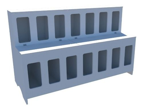 Expositor De Ração Pet Box 14 Divisões + Mesa P/ Balança