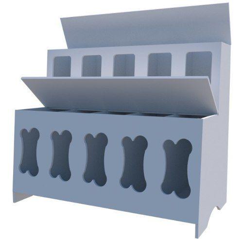 Expositor De Ração, Pet Box 10 Divisões (osso)