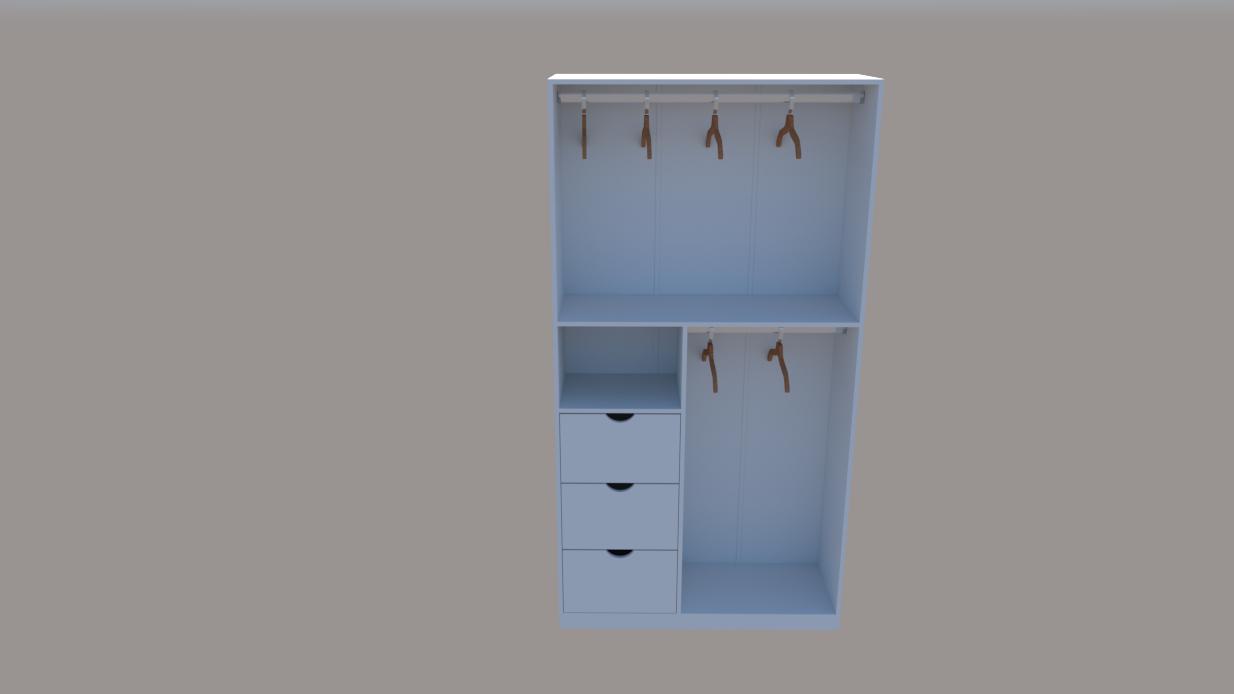Armário Misto M3 (prateleira, multiuso,organizador, loja, expositor)