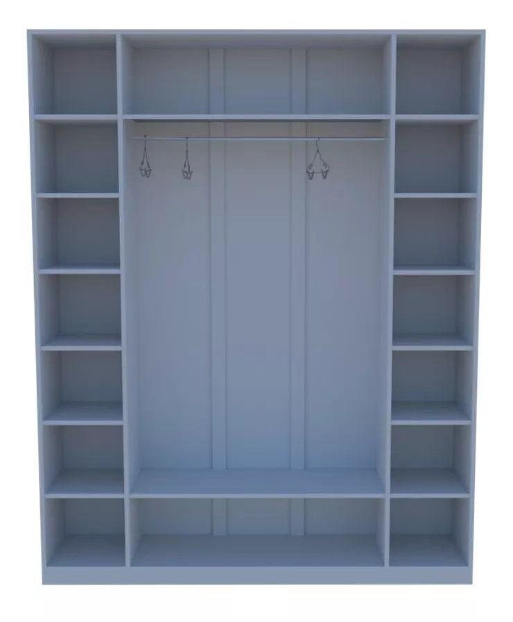 Armário Colmeia Cabideiro 1,85m X 2,0m 100%mdf (closet Loja)