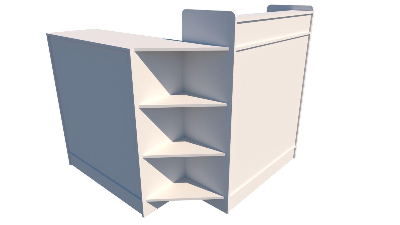 Balcão caixa L M5 (atendimento, loja, organizador)