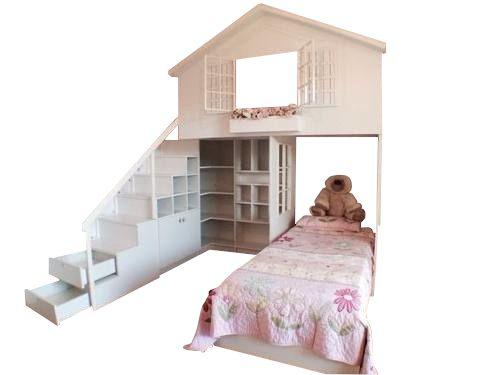 Cama Casinha M2 (Playground, Meninas, Meninos, quarto)