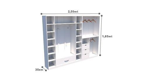 Kit Armário Closet Modulado M15 (colmeia, loja, Expositor, sapateira, roupa, organizador)