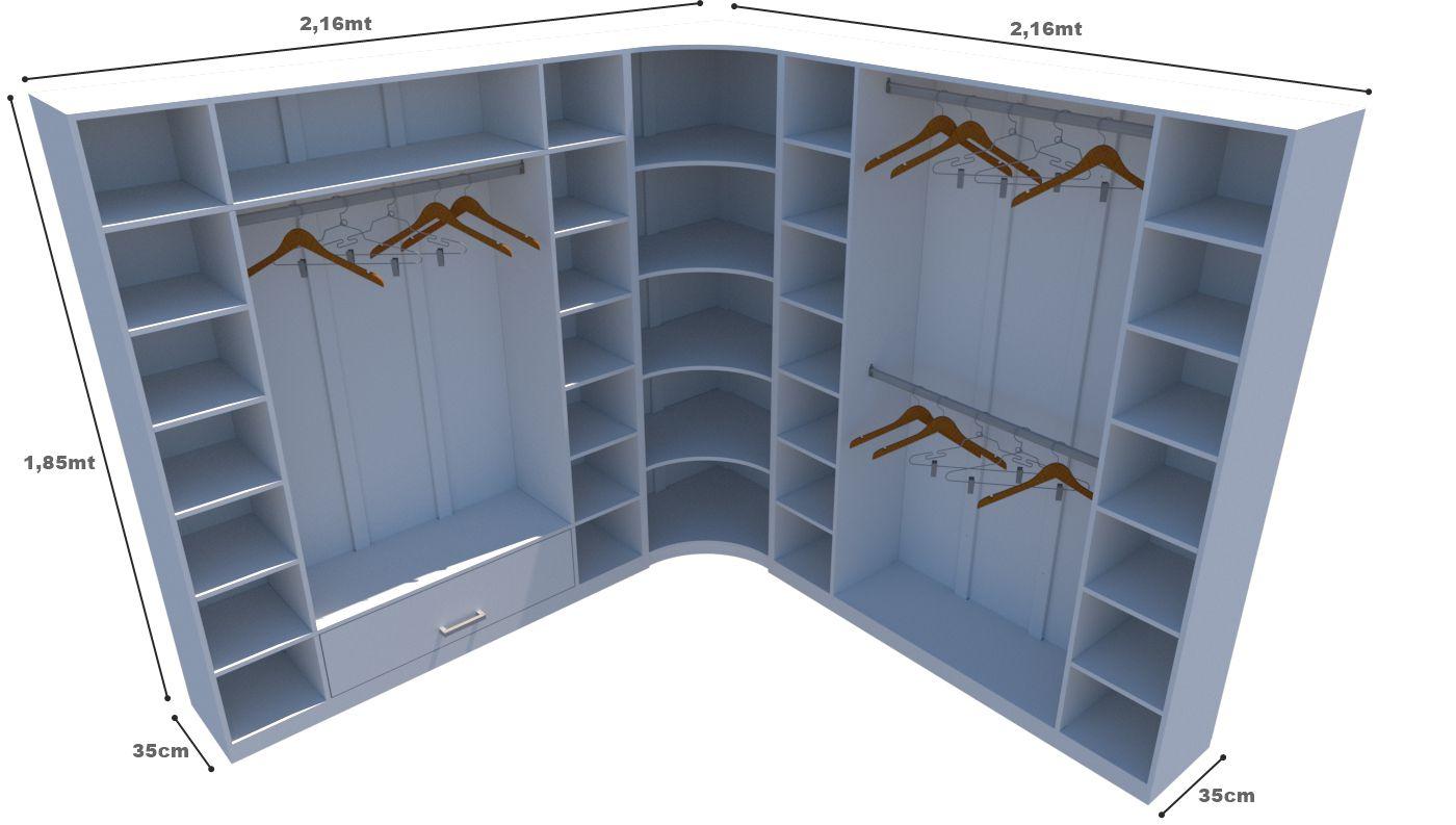 Kit Armário Closet Modulado M1 (colmeia, loja, Expositor, sapateira, roupa, organizador)