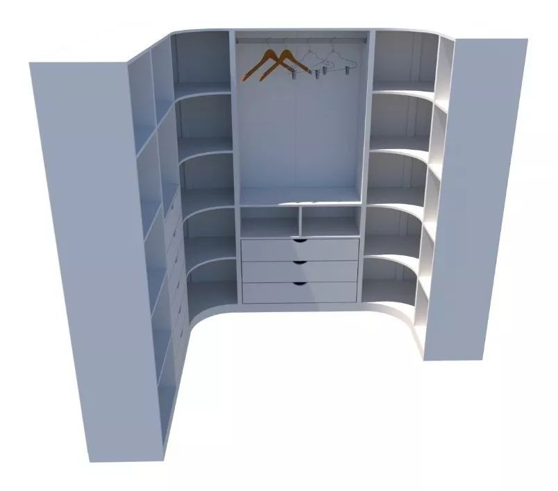 Kit Armário Closet Modulado M24 100% Mdf (lojas Expositor)