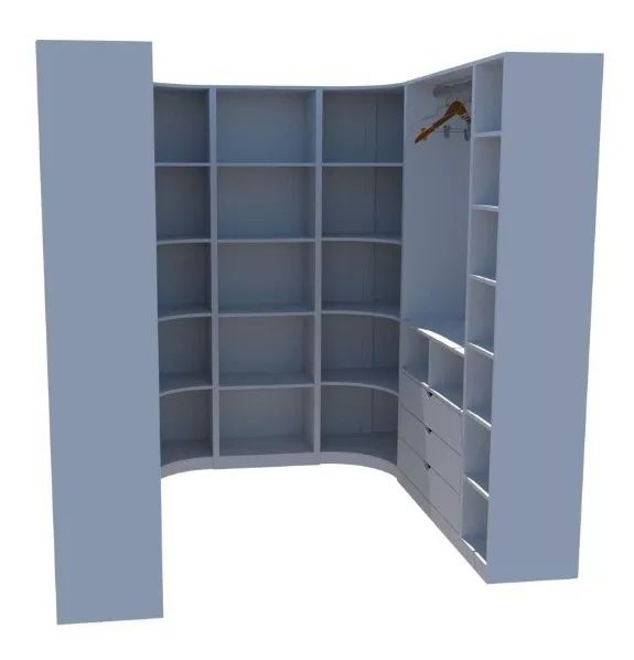 Kit Armário Closet Modulado M26 (colmeia,loja, Expositor)
