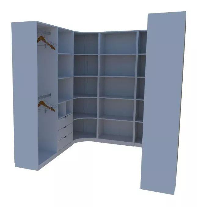 Kit Armário Closet Modulado M28 (colmeia,loja, Expositor)