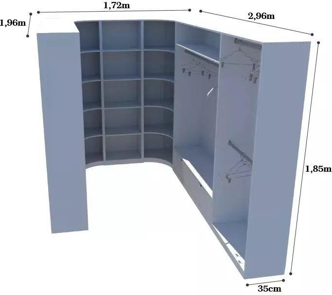Kit Armário Closet Modulado M29 (colmeia,loja, Expositor)