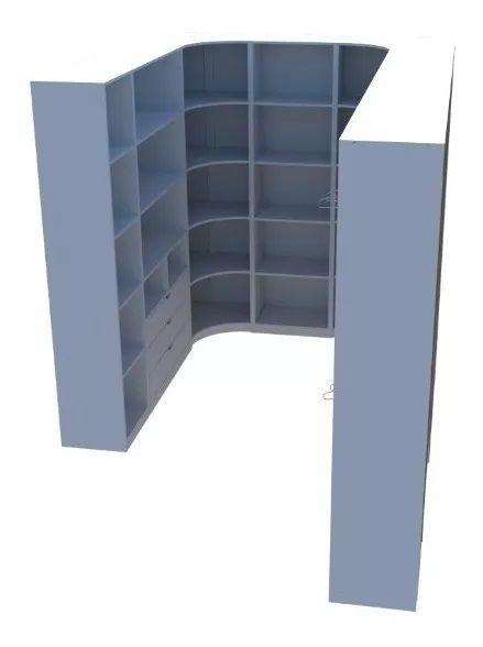 Kit Armário Closet Modulado M30 (colmeia,loja, Expositor)