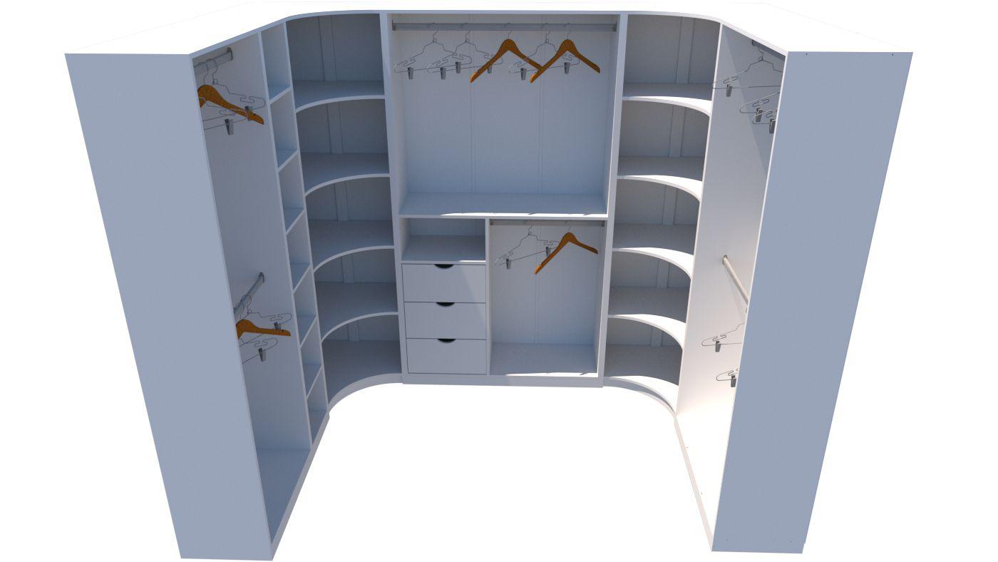 Kit Armário Closet Modulado M7 (colmeia, loja, Expositor, sapateira, roupa, organizador)