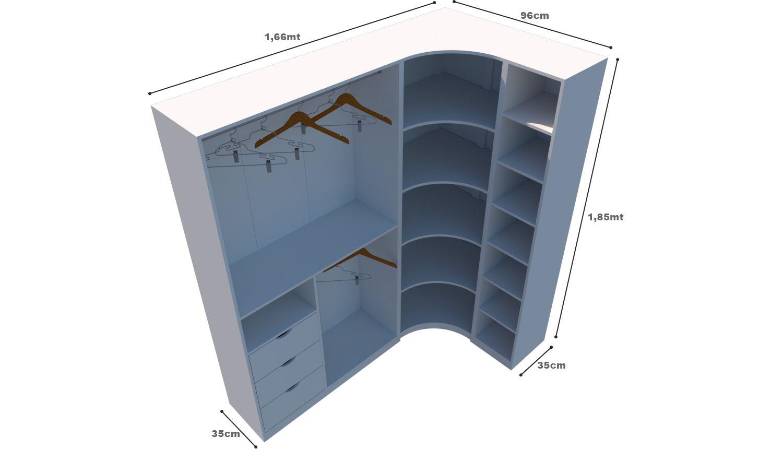 Kit Armário Closet Modulado M9 (colmeia, loja, Expositor, sapateira, roupa, organizador)