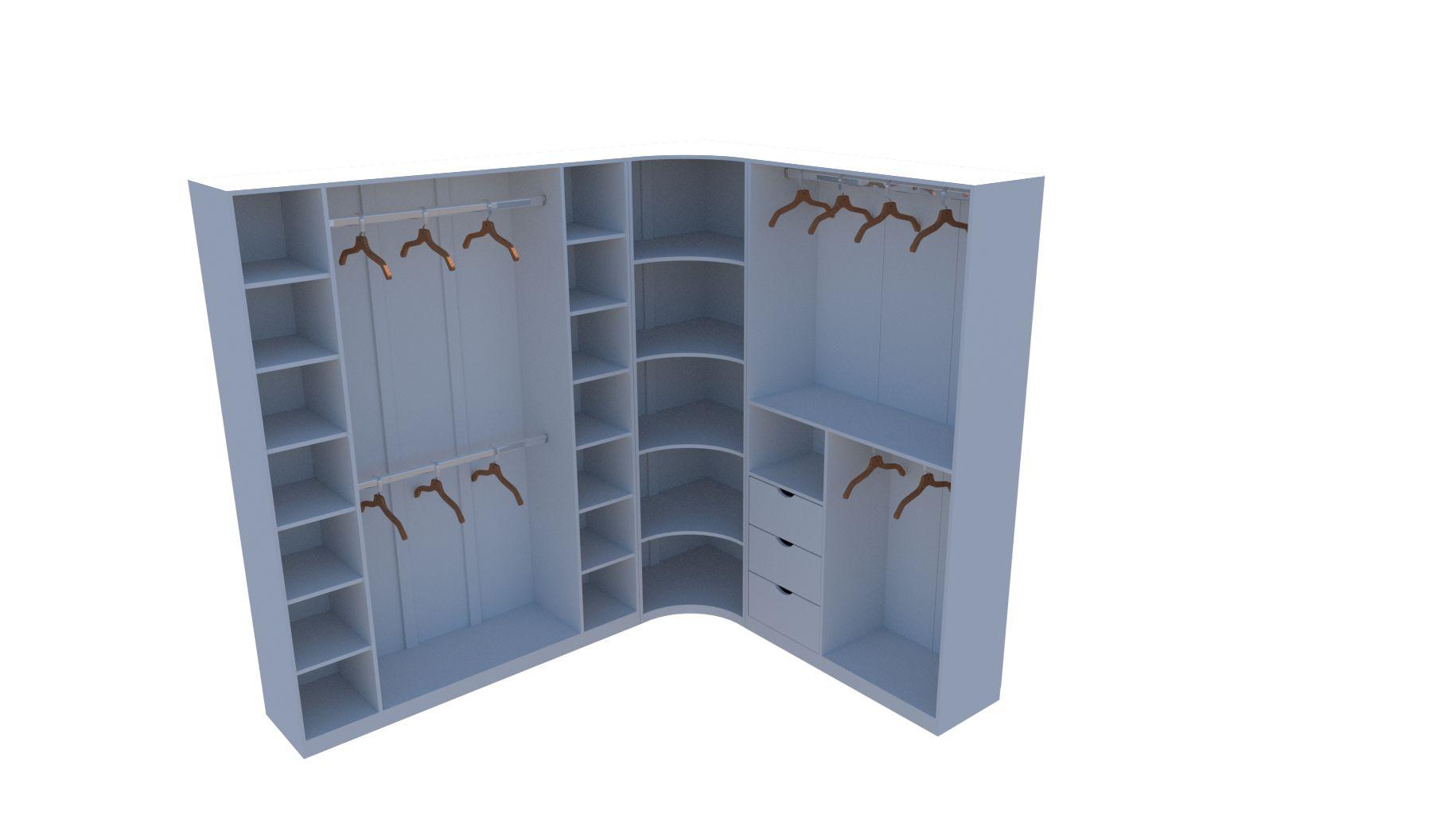Kit Armário Closet Modulado M8 (colmeia, loja, Expositor, sapateira, roupa, organizador)