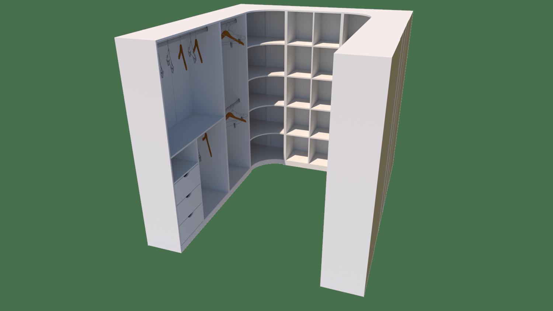 Kit Closet Armário Colmeia Cabideiro + canto M14 (loja Roupa)