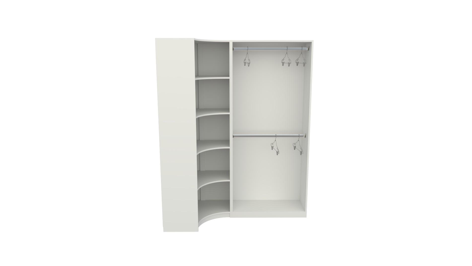 Kit Closet Armário Colmeia Cabideiro Canto M31 (expositor)