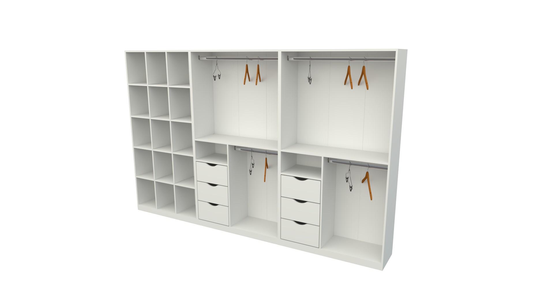 Kit Closet Armário Colmeia Cabideiro M21