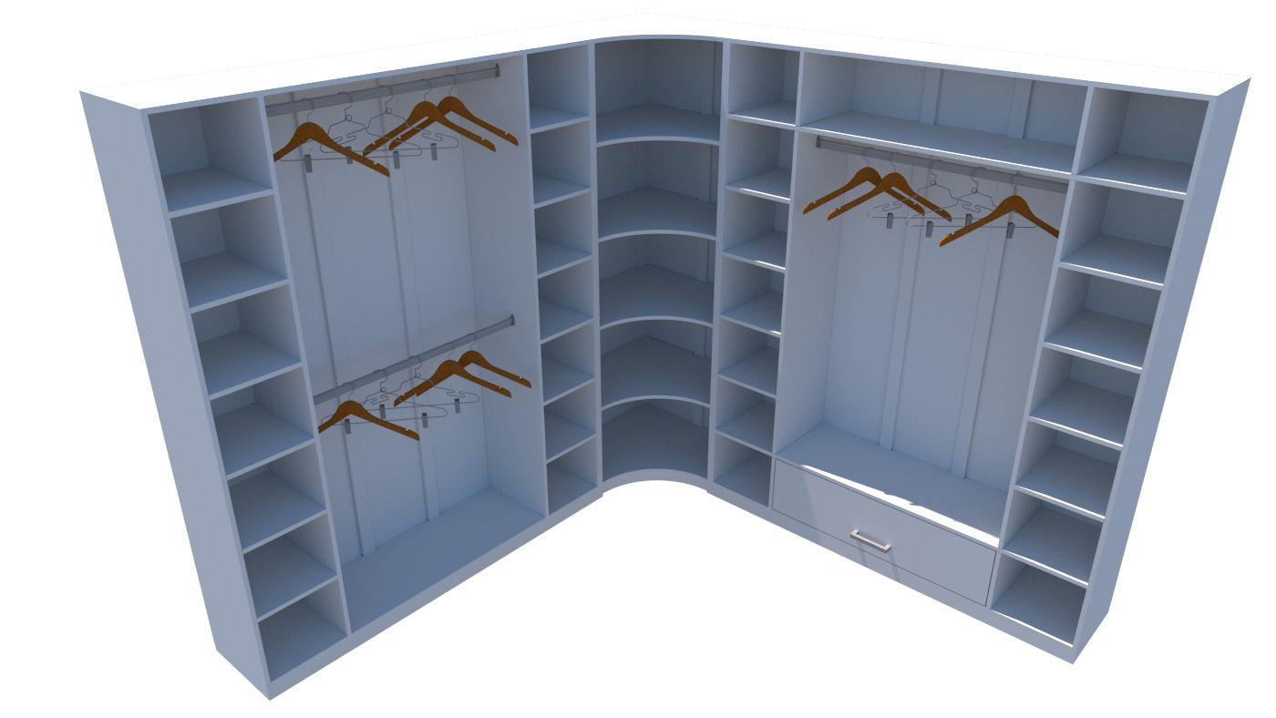 Kit Closet M1 Armário Colmeia Cabideiro Livia (expositor,roupa)
