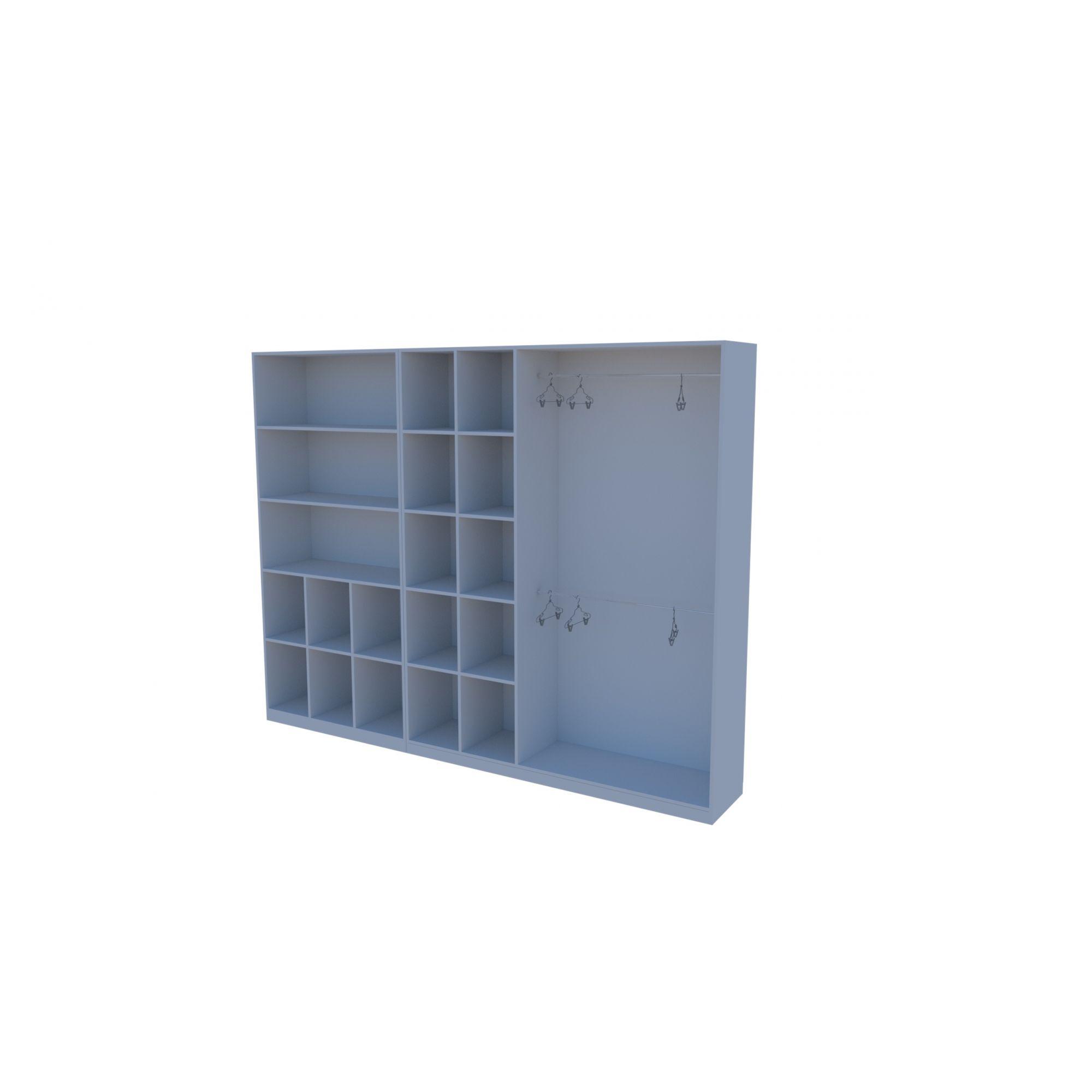 Kit Armário Closet Modulado M3 (colmeia, loja, Expositor, sapateira, roupa, organizador)