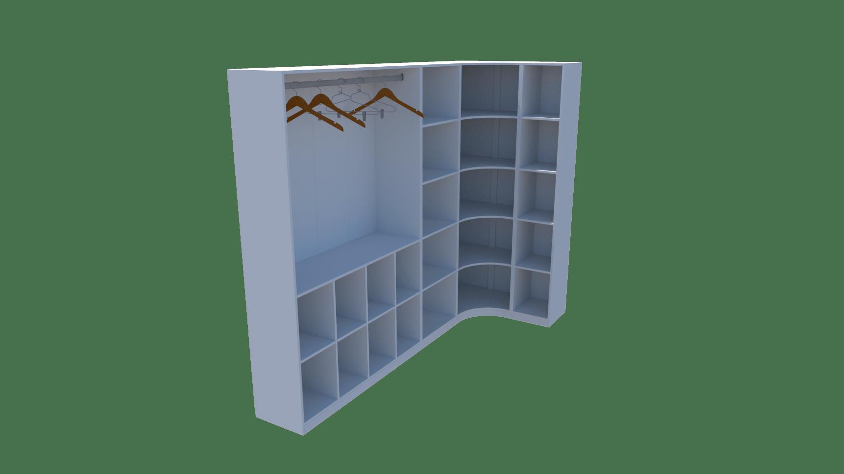 Kit Closet Modulado Armário Colmeia Cabideiro Canto M19