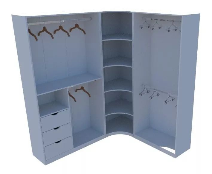 Kit Closet Modulado Armário Colmeia M22 (loja, Roupa)