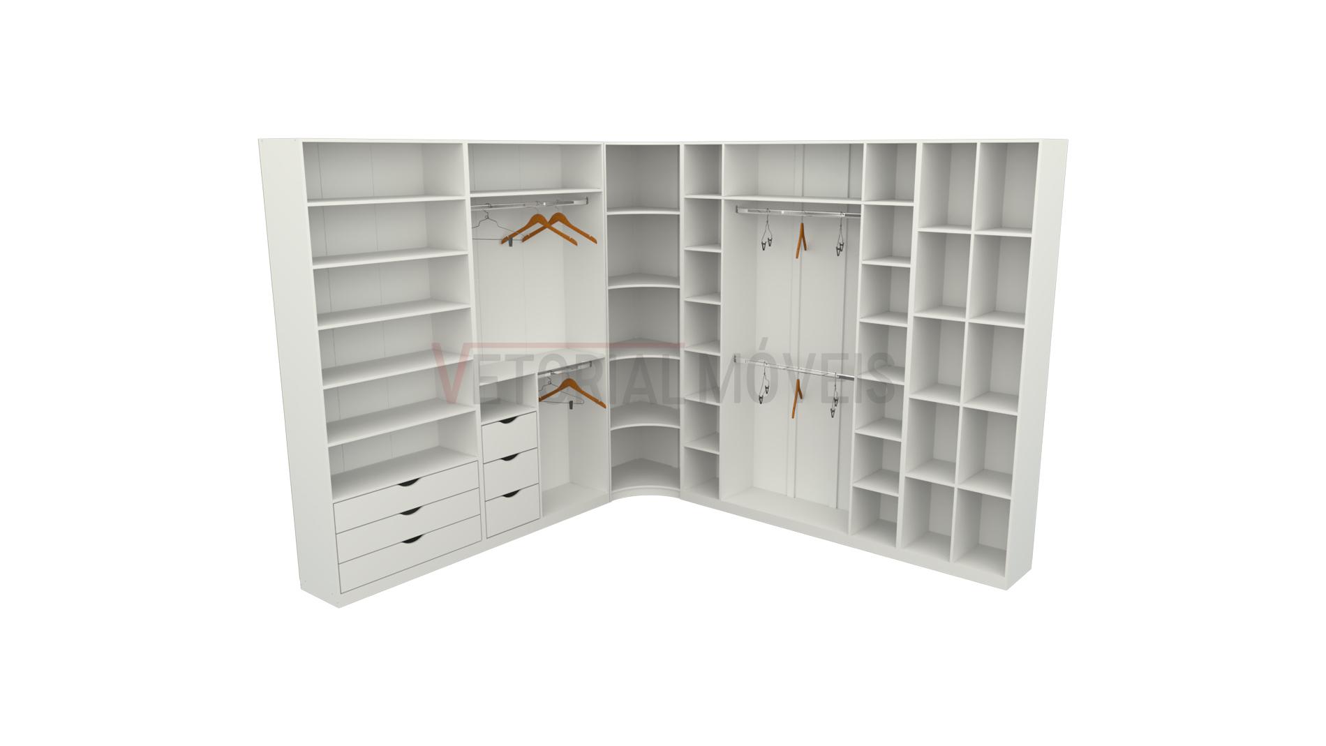 Kit closet modulado M95 Quarto, loja