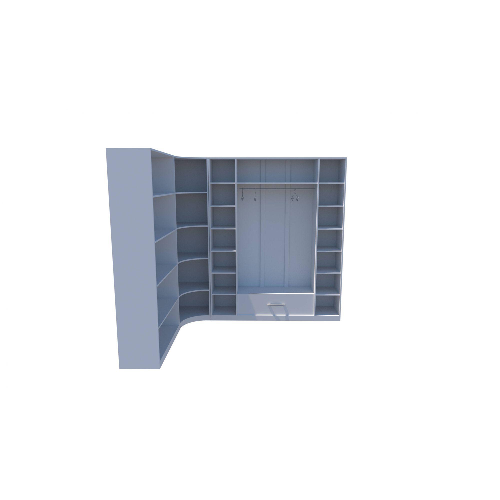 Kit Armário Closet Modulado M2 (colmeia, loja, Expositor, sapateira, roupa, organizador)