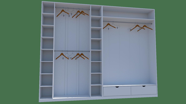 Kit Closet Ou Loja Armário Colmeia Cabideiro M33 100% Mdf