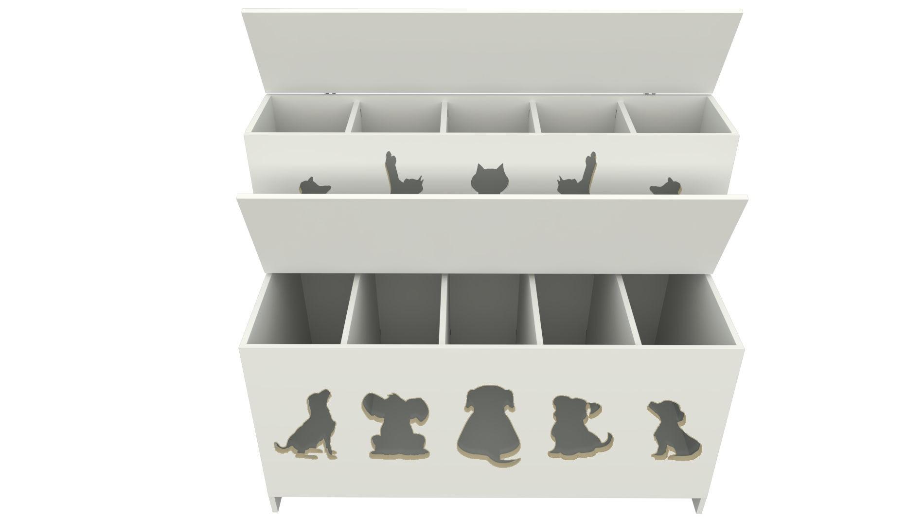 Pet Box 10 divisões Kids (expositor, ração, cães, Gatos, Pet)