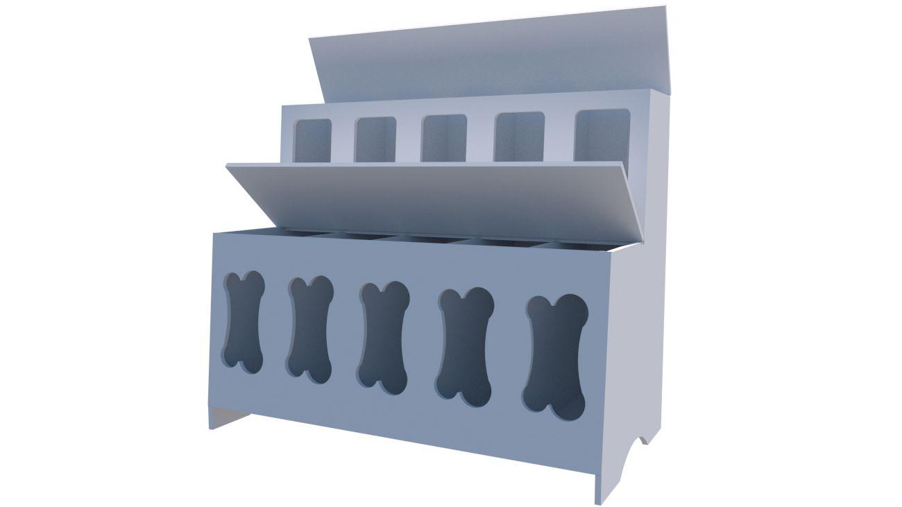 Pet Box 10 divisões osso (expositor, ração, cães, Gatos, Pet)