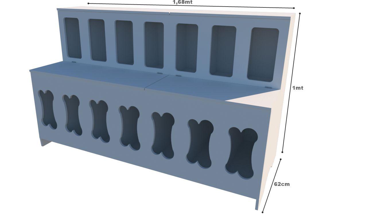 Pet Box 14 divisões osso (expositor, ração, cães, Gatos, Pet)