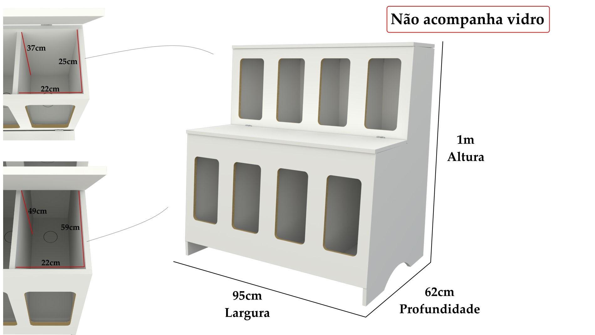 Pet Box 8 divisões (expositor, ração, cães, Gatos, Pet)