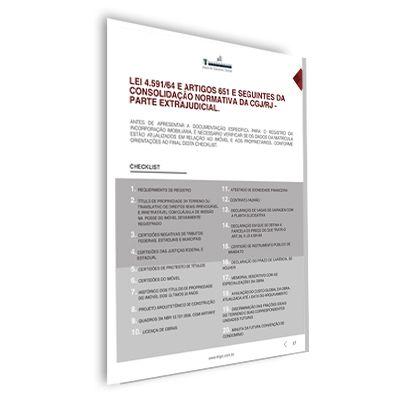 Manual para Registro de Incorporações Imobiliárias e Condomínios
