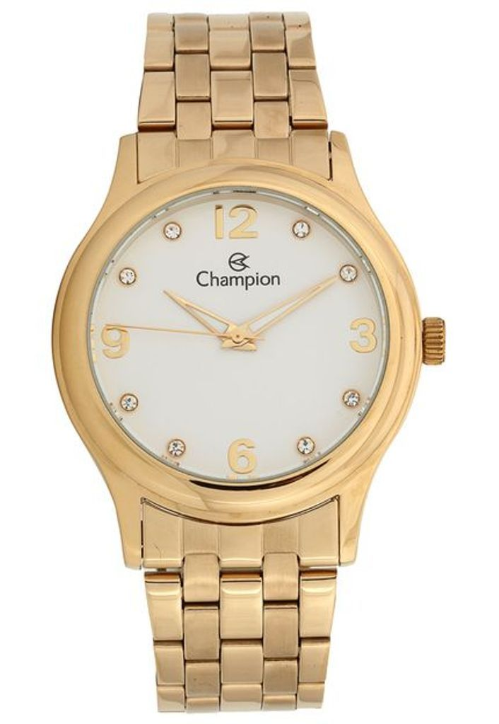 Relógio Feminino Champion Passion Cn28991w Dourado Kit Semi Jóia